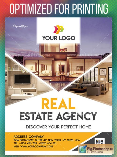 Real Estate Agency V1208 2019 PSD Flyer Template