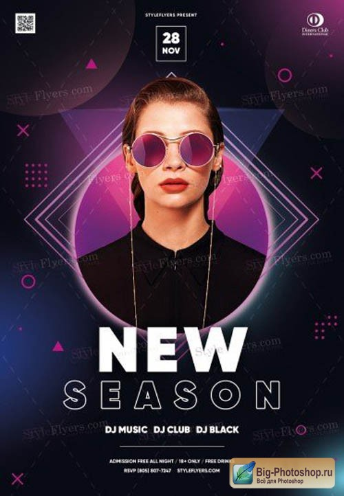 New Season V1709 2019 PSD Flyer Template