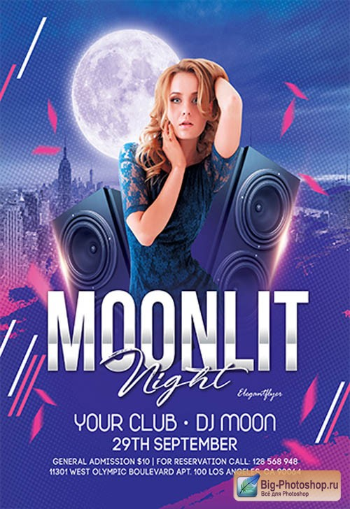 Moonlit Night V2709 2019 Premium PSD Flyer Template