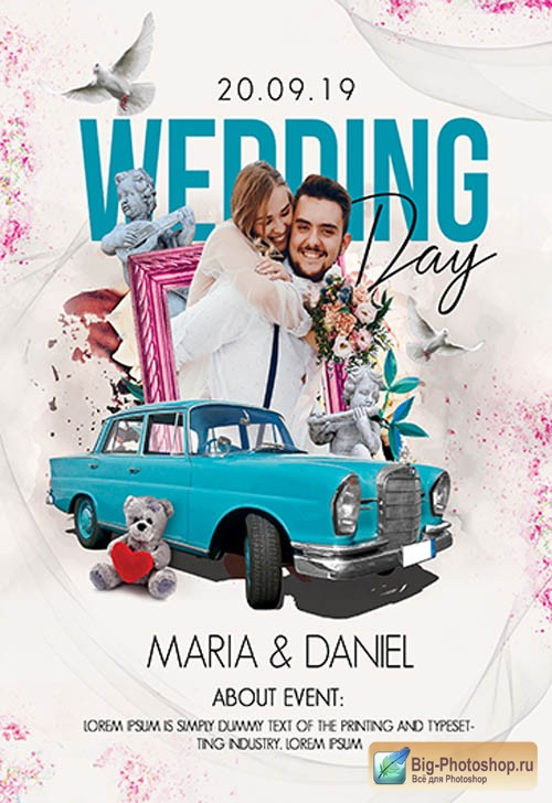 Wedding Day V0310 2019 Premium PSD Flyer Template