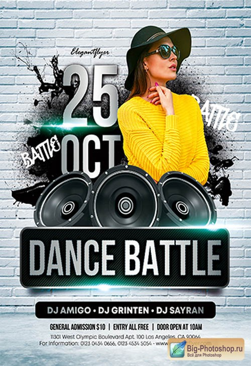 Dance Battle V0911 2019 Premium PSD Flyer Template
