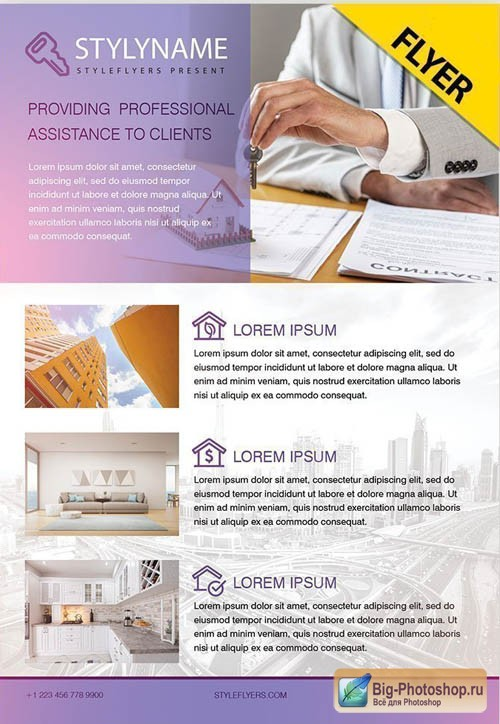 Real Estate V0911 2019 PSD Flyer Template