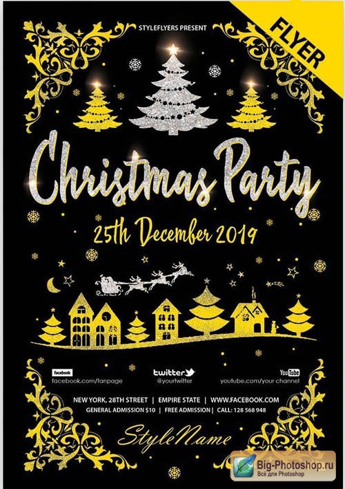 Christmas Party V0212 2019 PSD Flyer Template