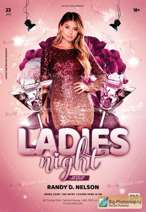 Ladies Night V0212 2019 PSD Flyer Template