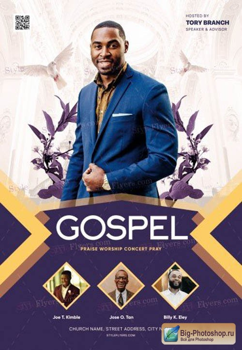 Gospel V0212 2019 PSD Flyer Template