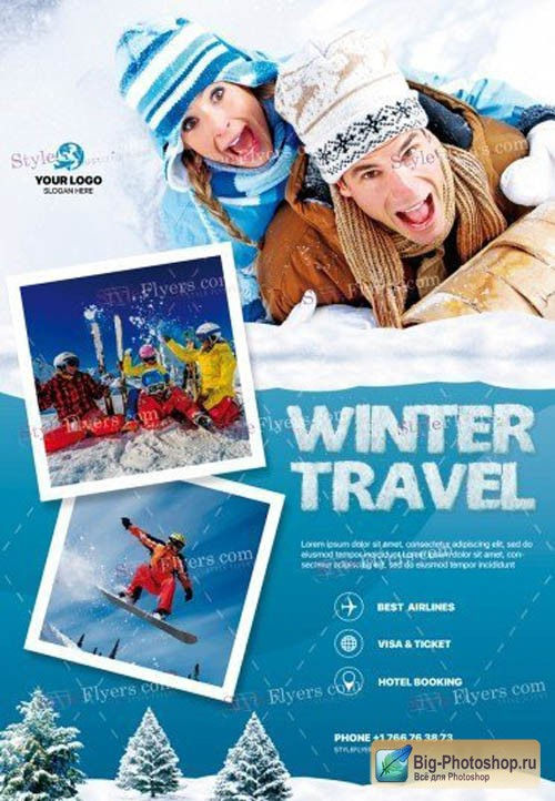 Winter Travel V0212 2019 PSD Flyer Template