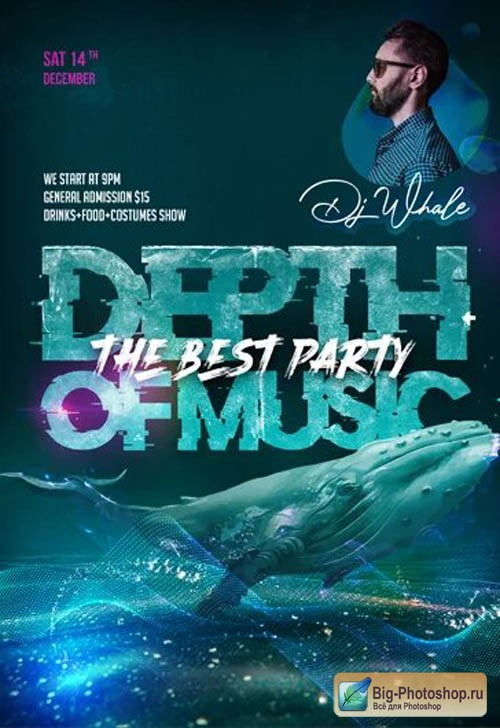 Depth of Music Party V0301 2020 Premium PSD Flyer Template