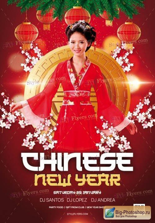 Chinese New Year V2912 2019 PSD Flyer Template
