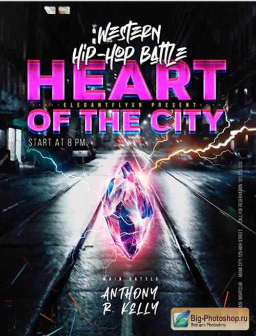 Heart of the City Battle V1201 2020 Premium PSD Flyer Template